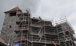 Burgruine auf dem Schlossberg wird nach über zwei Jahren endlich saniert