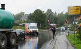 Unfall: Traktor mit Pkw in Haimbach kollidiert
