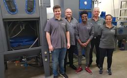 Drei neue Azubis bei der Firma Oliver Fritz Metall- und Maschinenbau