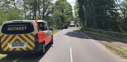 Motorradunfall zwischen Kerzell und Hattenhof
