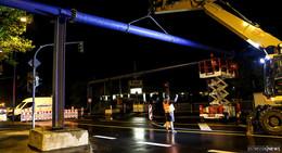 Überirdische Rohrleitungen auf Frankfurter Straße verlegt